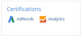 Certifications Google Adwords et Google Analytics
