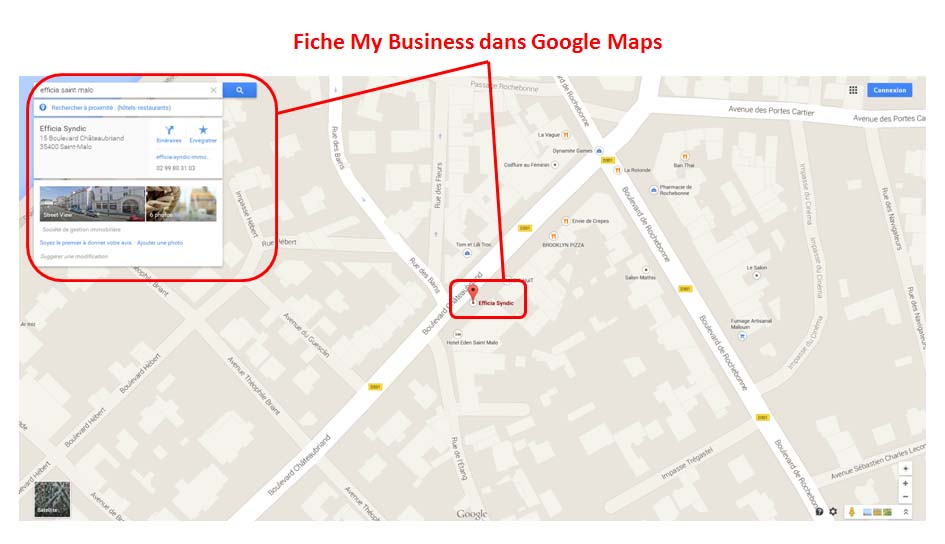 Fiche My Business dans Google Maps